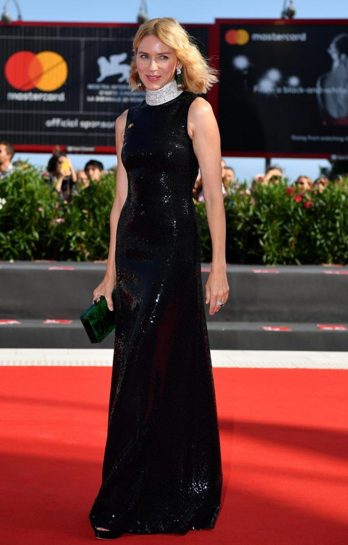 epa07001508 Member of the 'Venezia 75' jury Australian actress Naomi Watts arrives for the premiere of 'The Nightingale' during the 75th annual Venice International Film Festival, in Venice, Italy, 06 September 2018. The movie is presented in the official competition 'Venezia 75' at the festival running from 29 August to 08 September.  EPA-EFE/ETTORE FERRARI ORG XMIT: VFF100