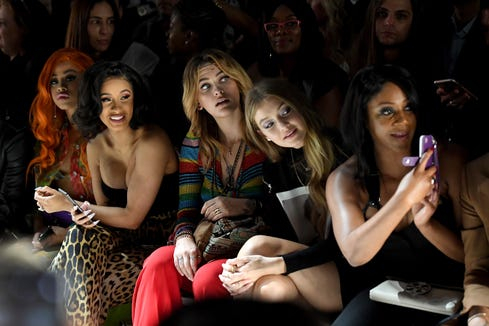 Hennessy Carolina, Cardi B, Paris Jackson, Gigi Hadid and Tiffany Haddish at Jeremy Scott.