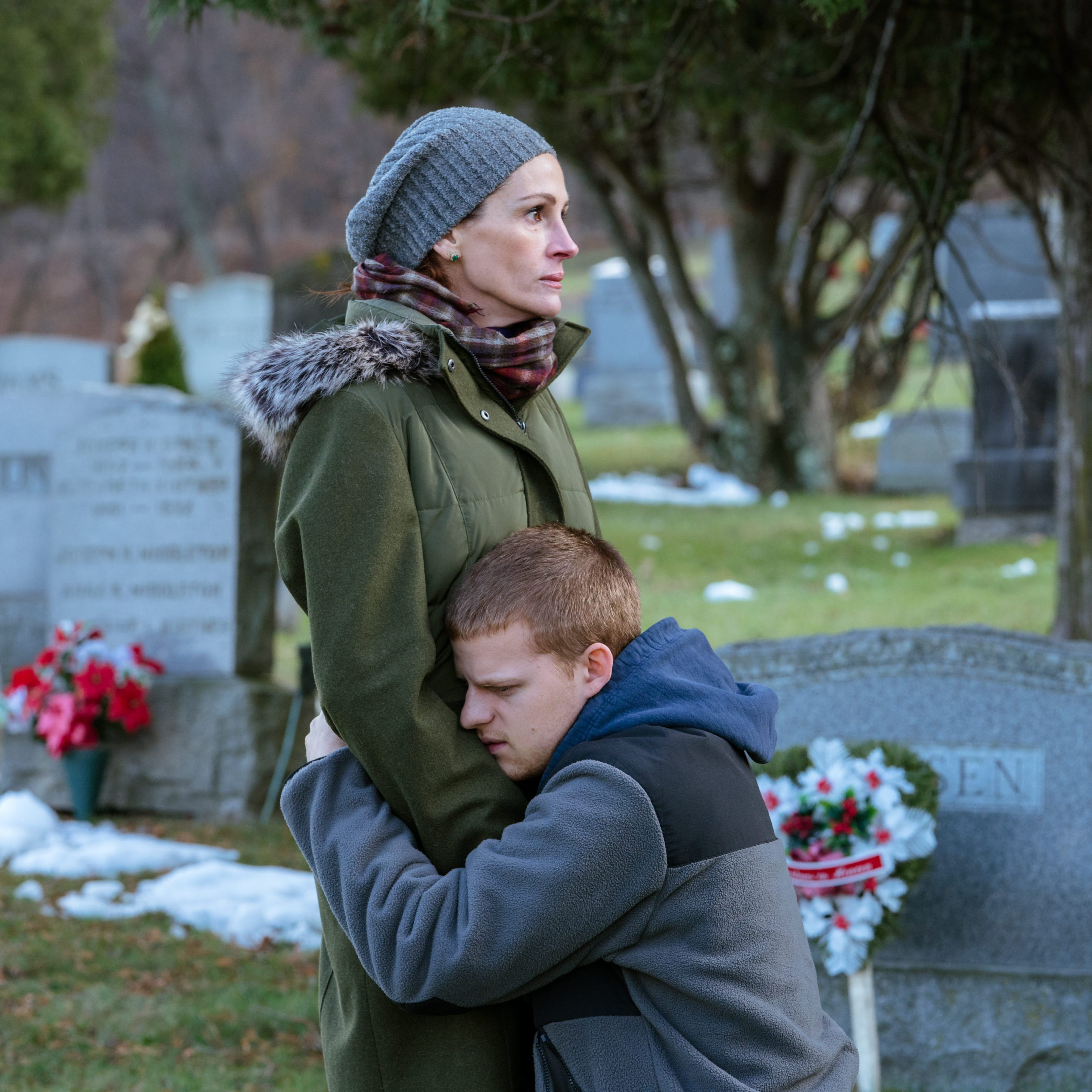 """Julia Roberts plays the mother of an opioid-addicted son (Lucas Hedges) in """"Ben Is Back."""""""