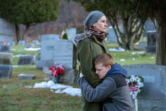"Julia Roberts plays the mother of an opioid-addicted son (Lucas Hedges) in ""Ben Is Back."""