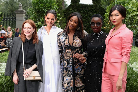 Julianne Moore, Katie Holmes, Tiffany Haddish, Danai Gurira and Gemma Chan at Tory Burch.