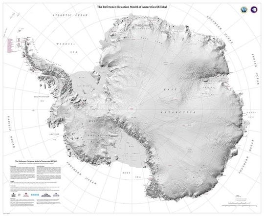 The new map of Antarctica shows the continent in stunning detail.