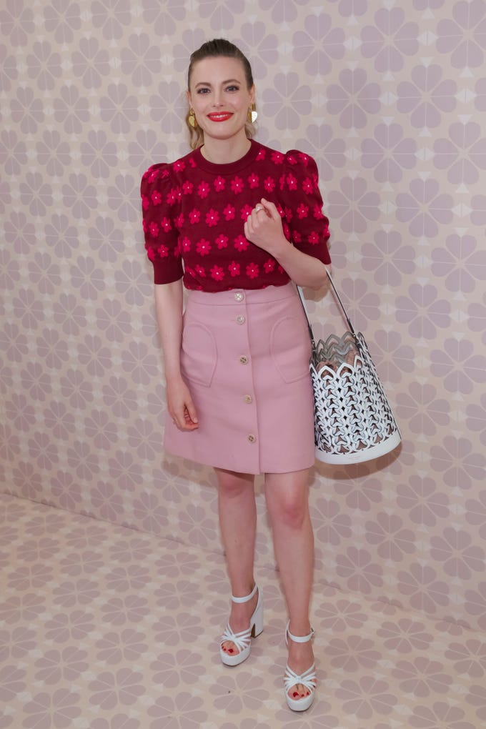 Gillian Jacobs attends the Kate Spade Runway Show at the New York Public Library during New York Fashion Week on Friday, Sept. 7, 2018, in New York. (Photo by Brent N. Clarke/Invision/AP) ORG XMIT: NYBC101