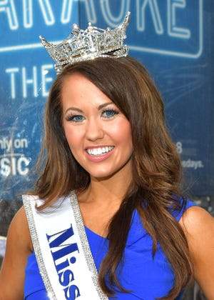 """The current Miss America, Cara Mund, in New York in September 2017, appeared on """"Today"""" Friday."""