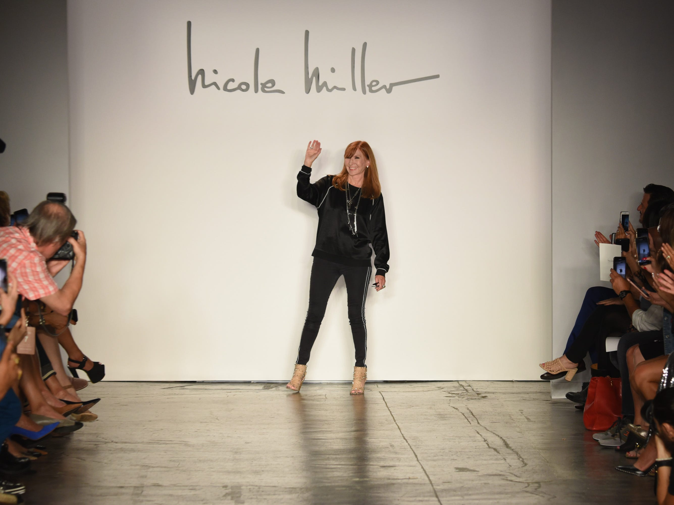 NEW YORK, NY - SEPTEMBER 06:  Designer Nicole Miller walks the runway during the Mary Kay at Nicole Miller Spring/Summer 2019 fashion show at Industria Studios on September 6, 2018 in New York City.  (Photo by Albert Urso/Getty Images for Mary Kay) ORG XMIT: 775215634 ORIG FILE ID: 1027975984