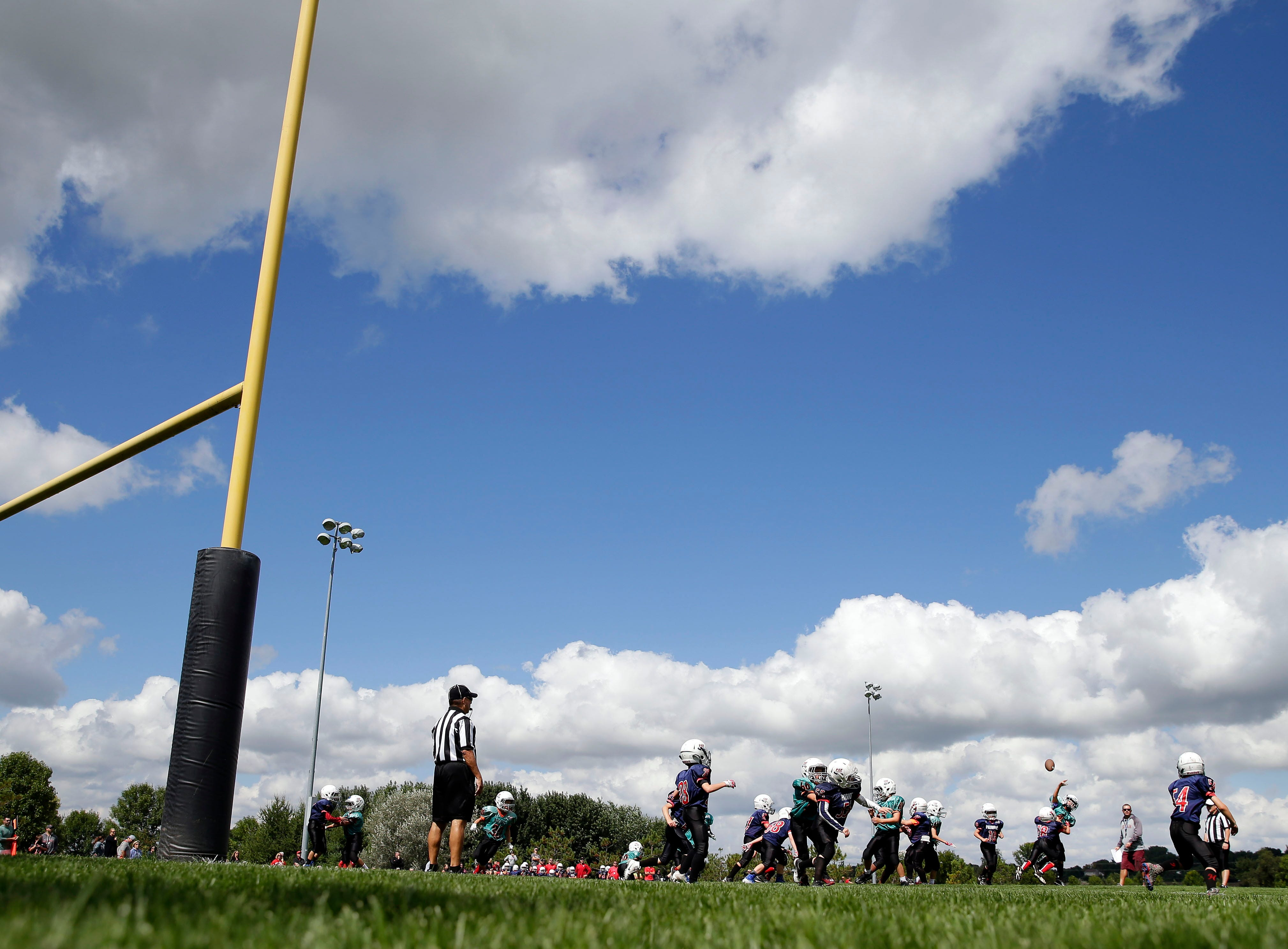 Fox Valley Pop Warner Football opens the season Saturday, September 8, 2018, at Plamann Park in Grand Chute, Wis.Ron Page/USA TODAY NETWORK-Wisconsin