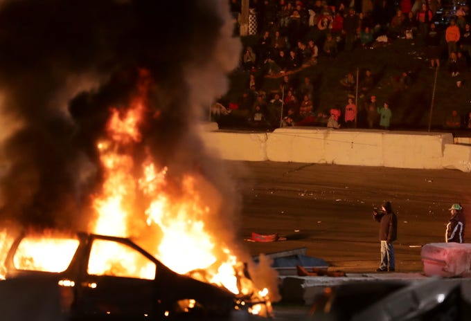 The Eve of Destruction on Friday, August 7, 2018 at Wisconsin International Raceway in Kaukauna, Wis.