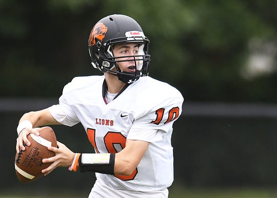 Middletown North QB Sean Glenn. Freehold Borough defeats Middletown North 22-20 on 9/8/2018