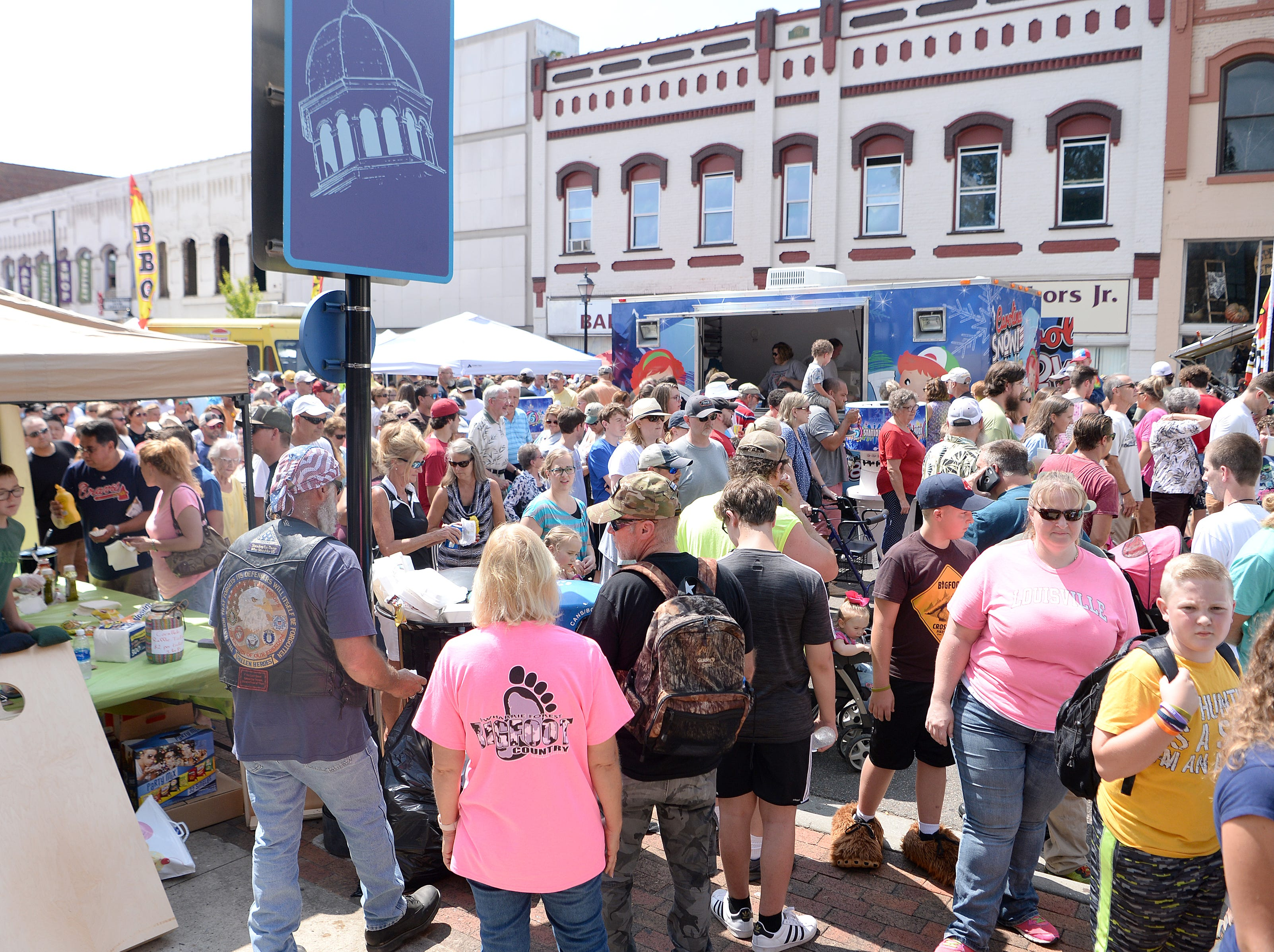 Thousands flooded the streets of Marion for the first ever WNC Bigfoot Festival in Marion on Sept. 8, 2018. The festival included booths, a Bigfoot calling and knocking competition and stories of Bigfoot encounters.