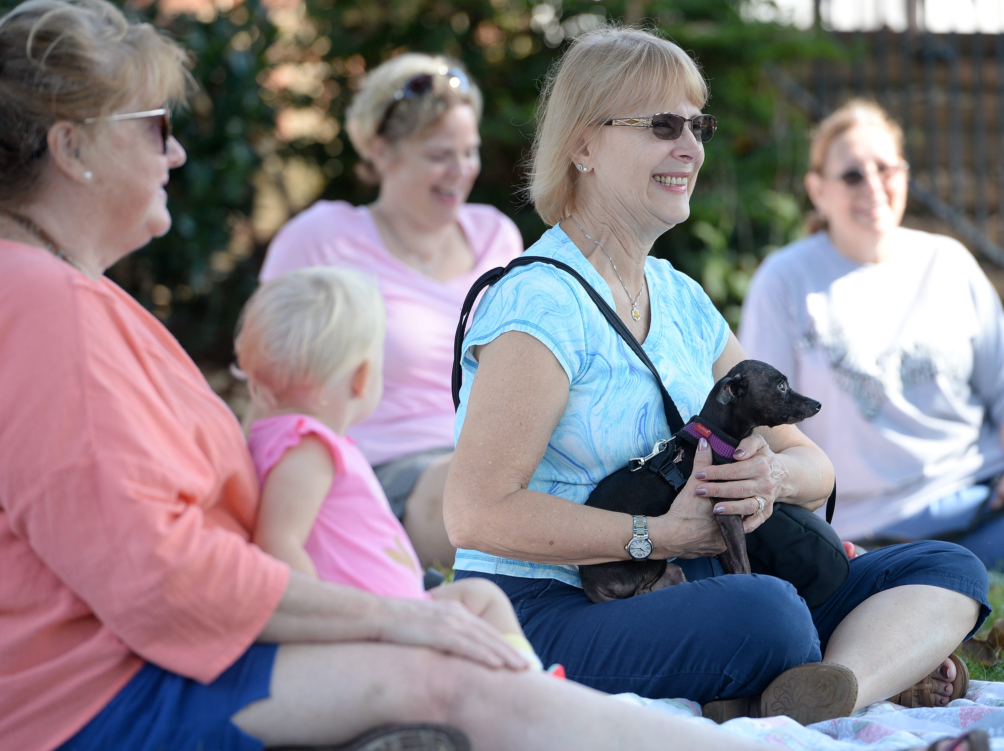 About 20 dogs were blessed during the 10th Annual Blessing of the Pets at Mills River Presbyterian Church on Sept. 8, 2018.