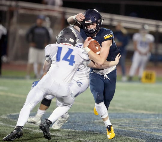 Bainbridge senior running back Max McLeod has emerged as one of the top dual threats in West Sound this season, totaling nine rushing touchdowns and 10 receiving touchdowns.