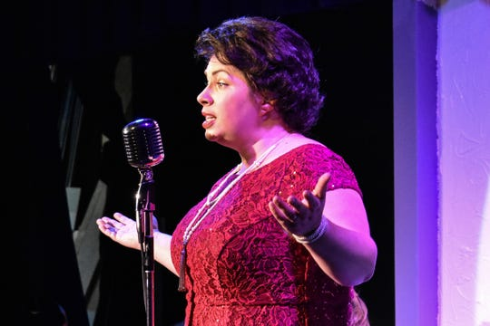 As Patsy Cline, Anna Borer sings more than two dozen songs associated with the country music icon.