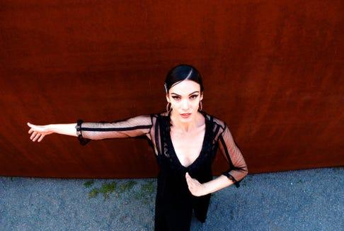 "Savannah Fuentes dances Flamenco style in ""Diamantes de Color, An Evening of Flamenco. Sept. 14 at the Bainbridge Island Grange Hall."