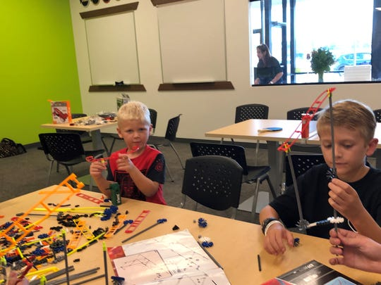 George Crossley (right), 9, of Delran is a student at Code Ninjas, but his little brother Josh, 5, was welcome to join him at a recent play session at Code Ninjas in Cherry Hill.