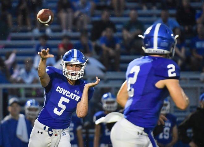 Covington Catholic's Caleb Jacob finds Casey McGinness against Kings Friday, Sept. 7, 2018 at Covington Catholic High School