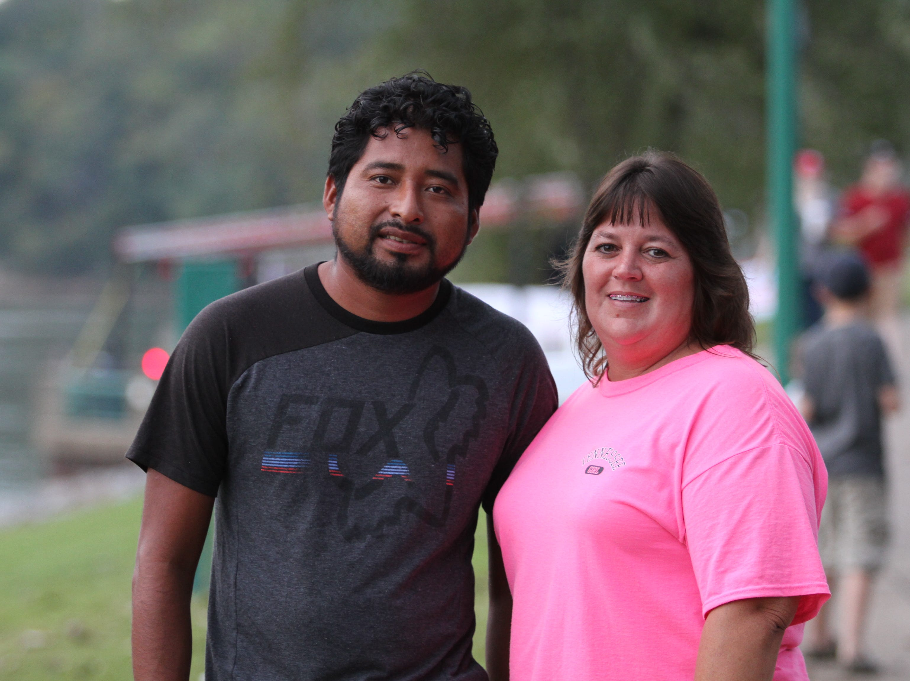 Reynaldo Salinas and Gina Bell at Clarksville Riverfest on Friday night, Sept. 7, 2018.