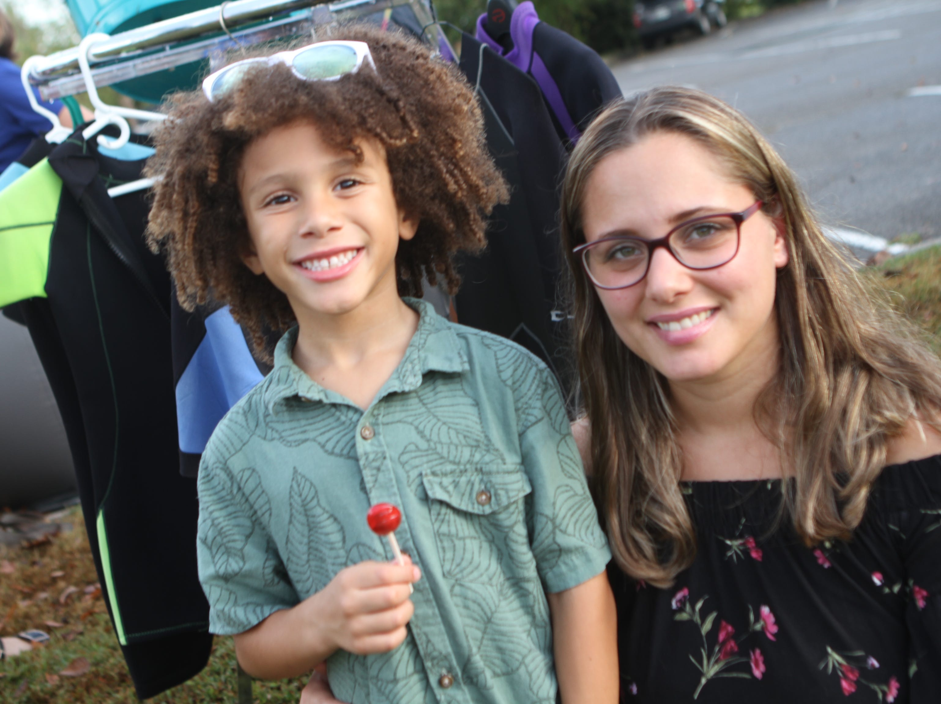 Noah and Giovanna Brown at Clarksville Riverfest on Friday night, Sept. 7, 2018.