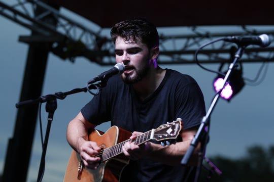 Wyatt Long performs at Clarksville Riverfest on Friday night, Sept. 7, 2018.