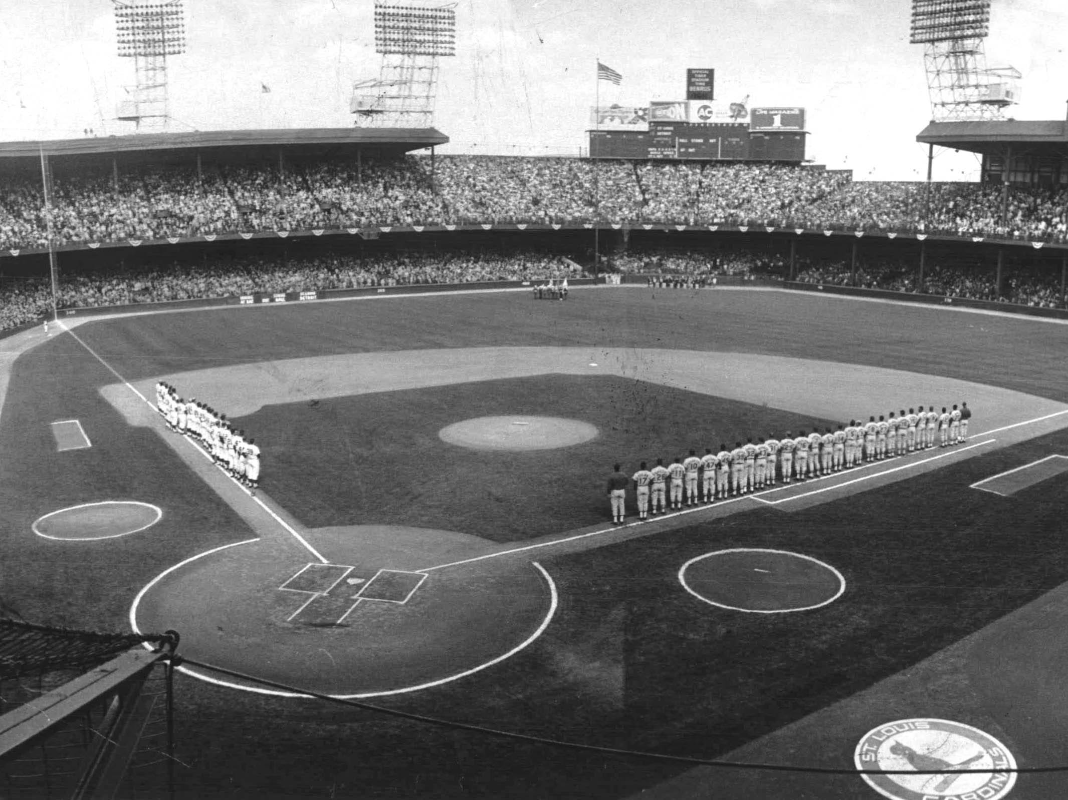 World Series -- ceremonies opening the first World Series game in 23 years in 1968 at Tiger Stadium in Detroit.