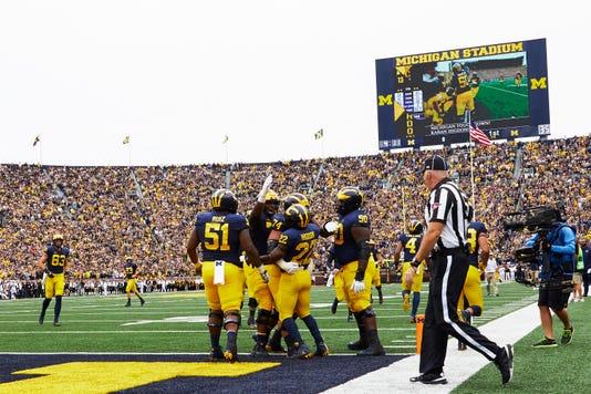 Ncaa Football Western Michigan At Michigan
