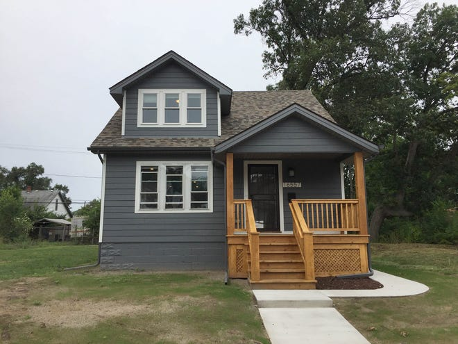 Century Partners hosted an open house on Sept. 8, 2018 for this house on San Juan Drive in the Fitzgerald neighborhood in Detroit. The rebuilt house, selling for $65,000, is part of a revitalization project that is expected to include more than 100 renovated houses in the Fitzgerald neighborhood.