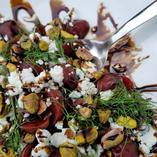 The new beet salad at CKB is a symphony of complementary flavors, colors and textures.