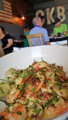 CKB's pastas are all fresh now, including the spaghetti in this shrimp piccata with artichokes, capers and bacon.