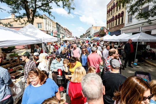 Thousands of people pack Main Street Saturday, Sept. 8, 2018, at Fondue Fest in downtown Fond du Lac, Wis.