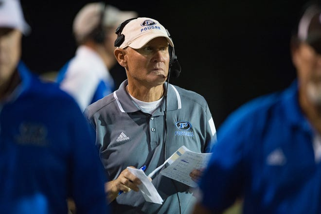 Marty McVicker, shown during the 2018 season, has been fired as the Poudre football coach.