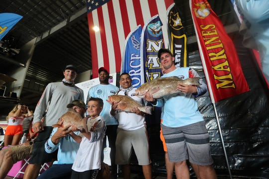 "Active duty military and veterans fished in the ""Take A Soldier Fishing' Tournament, Saturday, September 8th, 2018, at Hamilton Harbor, Naples. The military participants were paired up and then sent out with a boat captain. There were two divisions, Off Shore and Back Water."