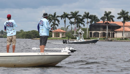 """Active duty military and veterans fished in the """"Take A Soldier Fishing' Tournament, Saturday, September 8th, 2018, at Hamilton Harbor, Naples. The military participants were paired up and then sent out with a boat captain. There were two divisions, Off Shore and Back Water."""
