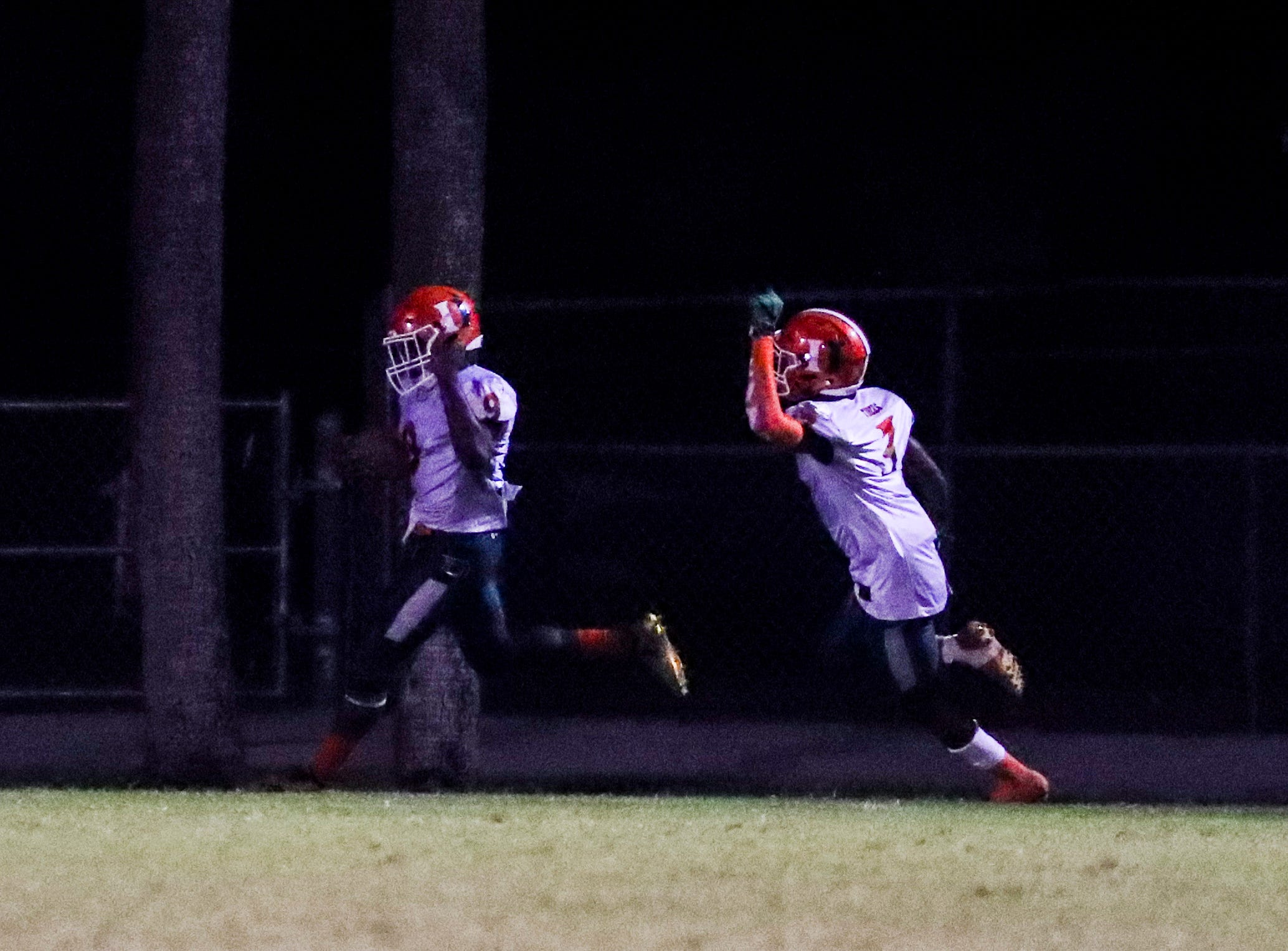Seneca Milledge returned this kickoff return for a touchdown. Images from the Dunbar at Riverdale high school football game, Friday, September 8th, 2018.
