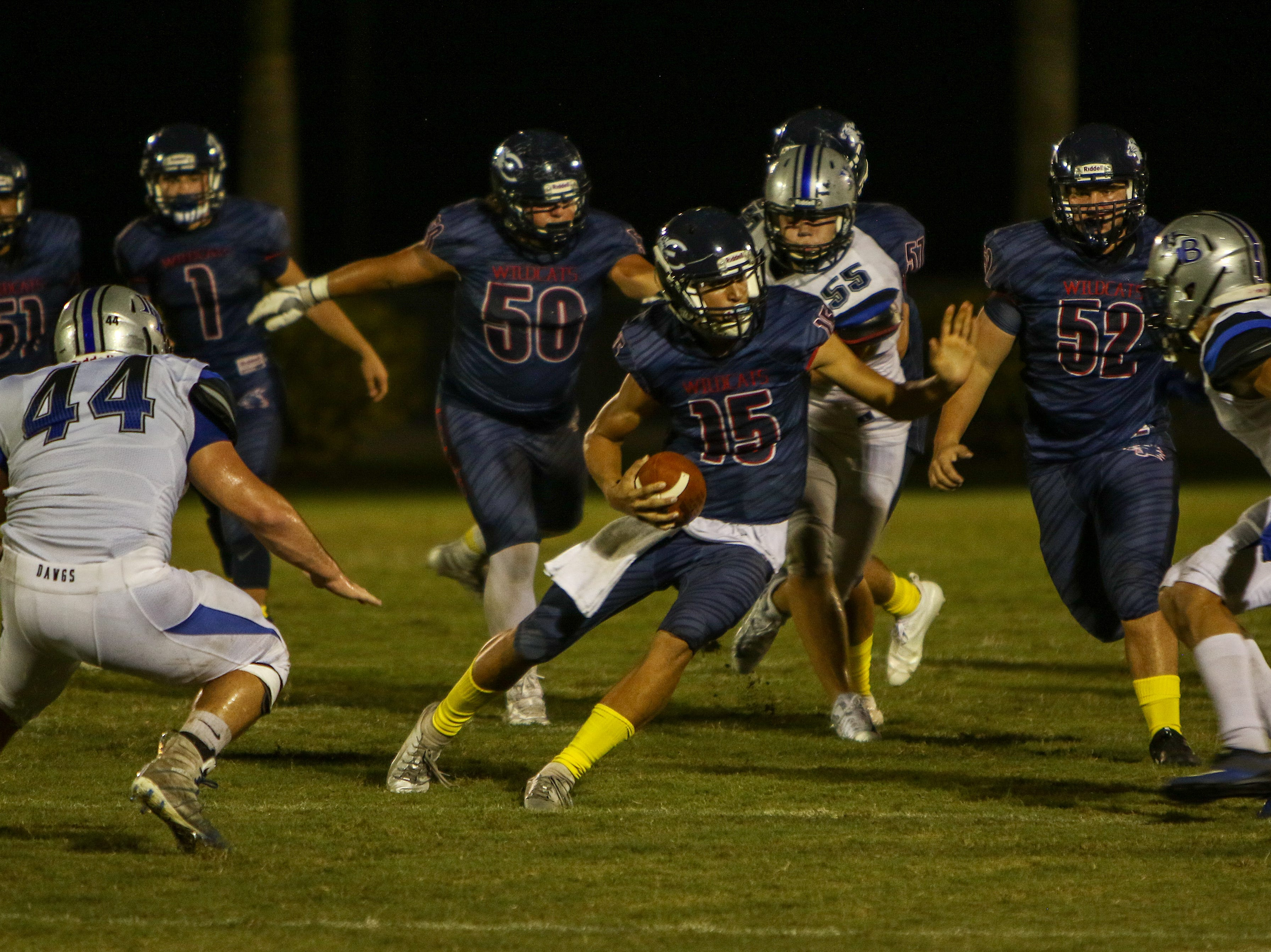 Estero hosted Ida Baker in a high school football game and won 23-13 on Friday night.