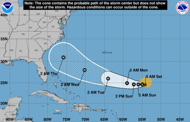 Tropical Storm Florence is expected to restrengthen to a major hurricane early next week.