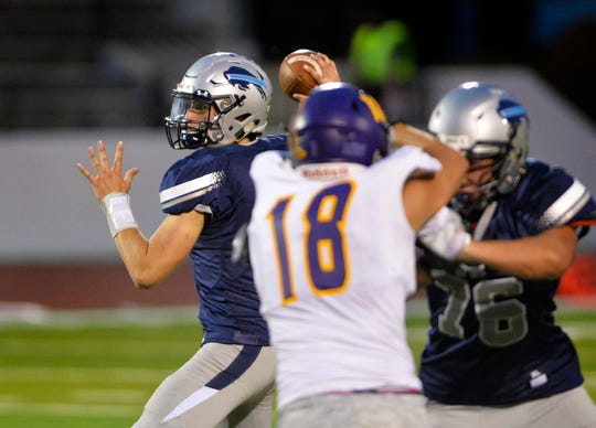 Great Falls High's Blake Thelen led Class AA with 3,005 yards passing.