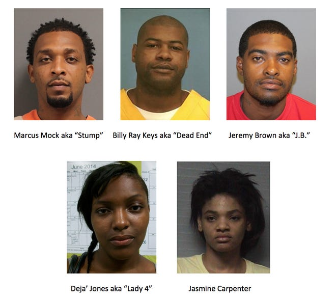 Five people are wanted for questioning for a  shooting Thursday, Sept. 6, 2018, in Hattiesburg that left one woman injured.
