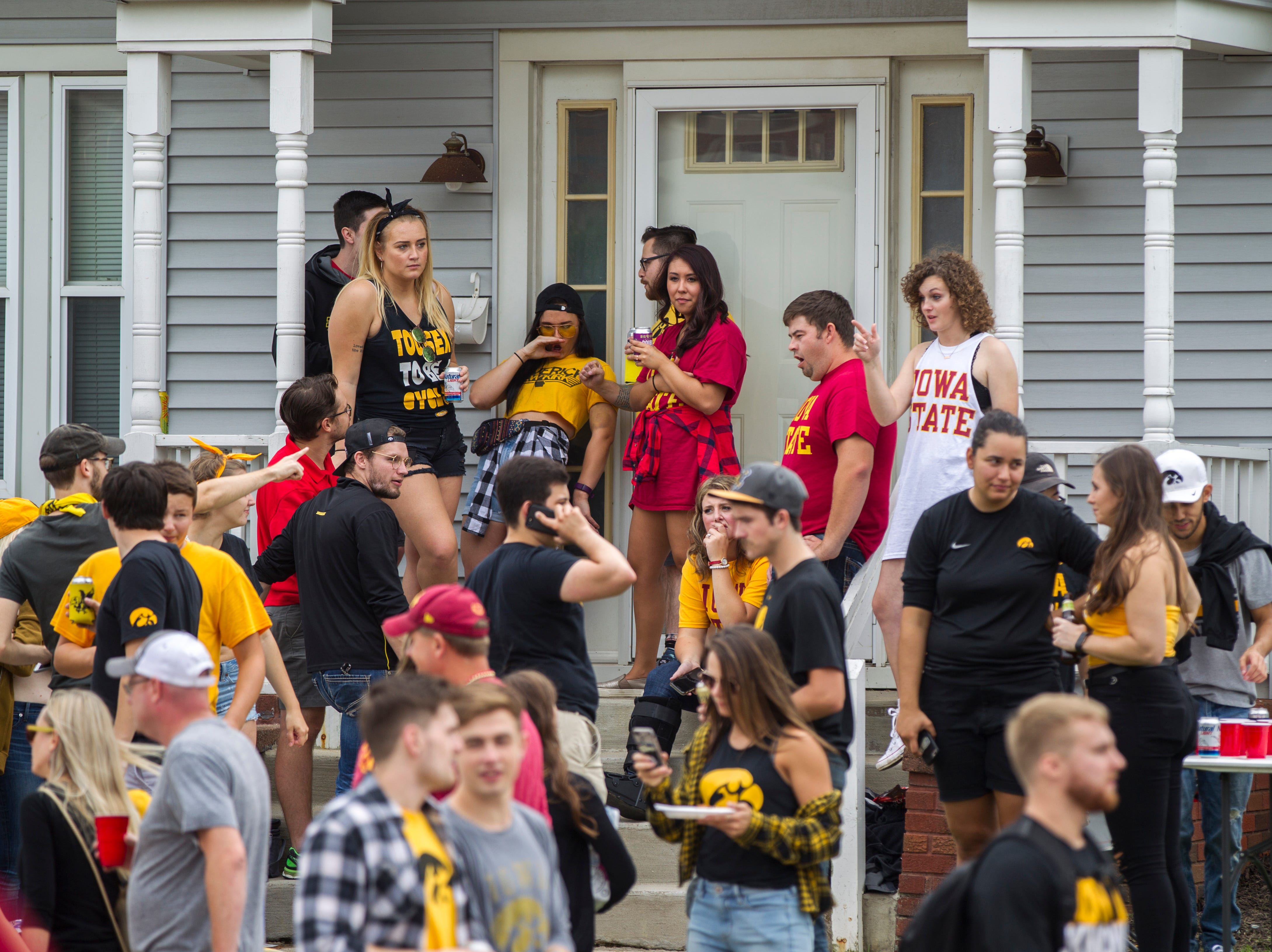 Fans tailgate off of Melrose Avenue before the Cy-Hawk NCAA football game on Saturday, Sept. 8, 2018, at Kinnick Stadium in Iowa City.