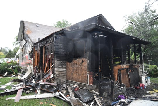 The Indianapolis Fire Department responds to a house fire around 7 a.m. September 8, 2018, believed to have started in the first floor of the two-story home.