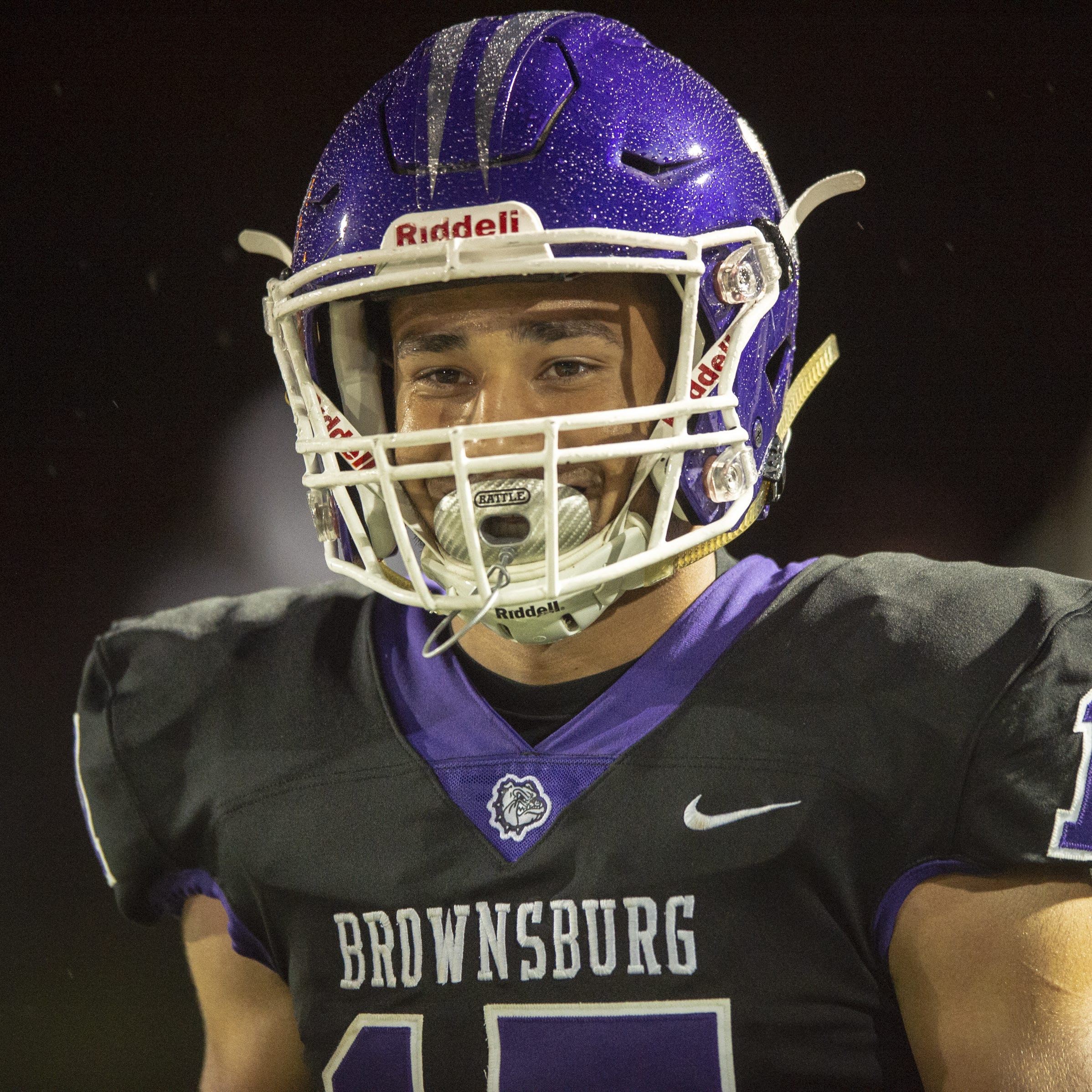 FILE – Bryce Kirtz had more than 200 yards receiving in Brownsburg's win over Westfield on Friday night.