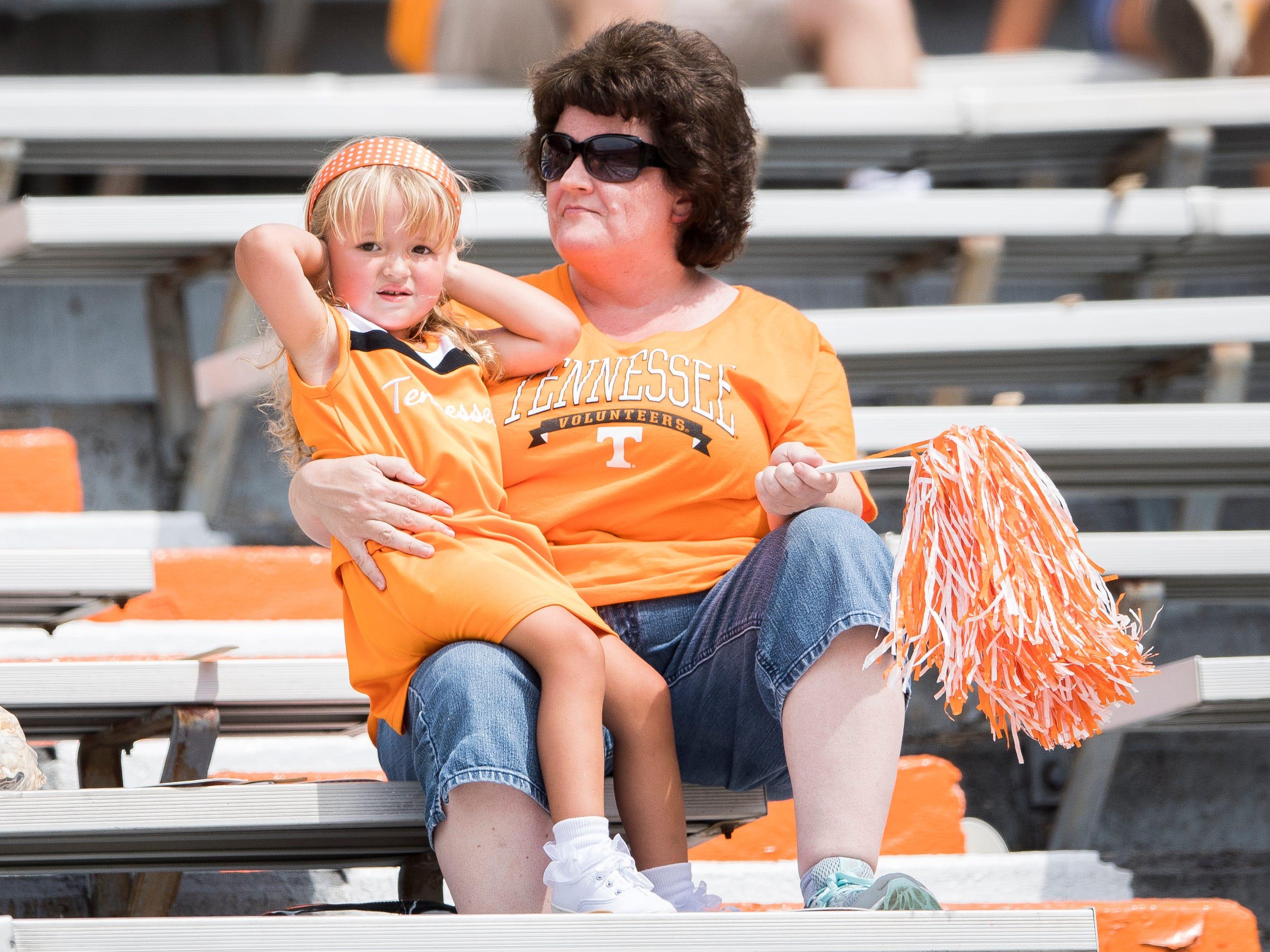 UT Vols fans before the Tennessee Volunteers' game against ETSU in Neyland Stadium on Saturday, Sept. 8, 2018.