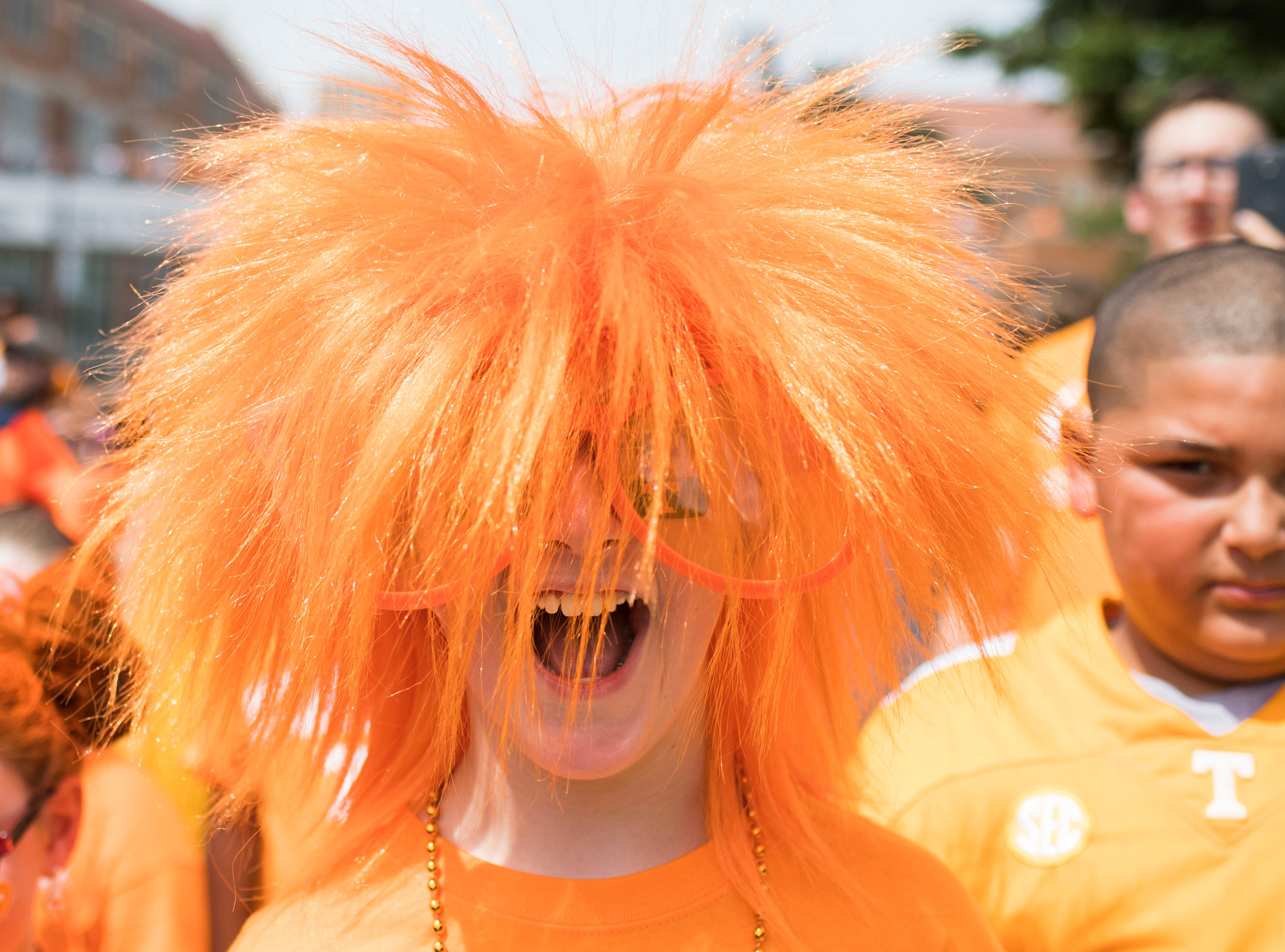 Oliver Snowden poses for a photo before a Tennessee Vols football game against ETSU outside Neyland Stadium Saturday, Sept. 8, 2018.