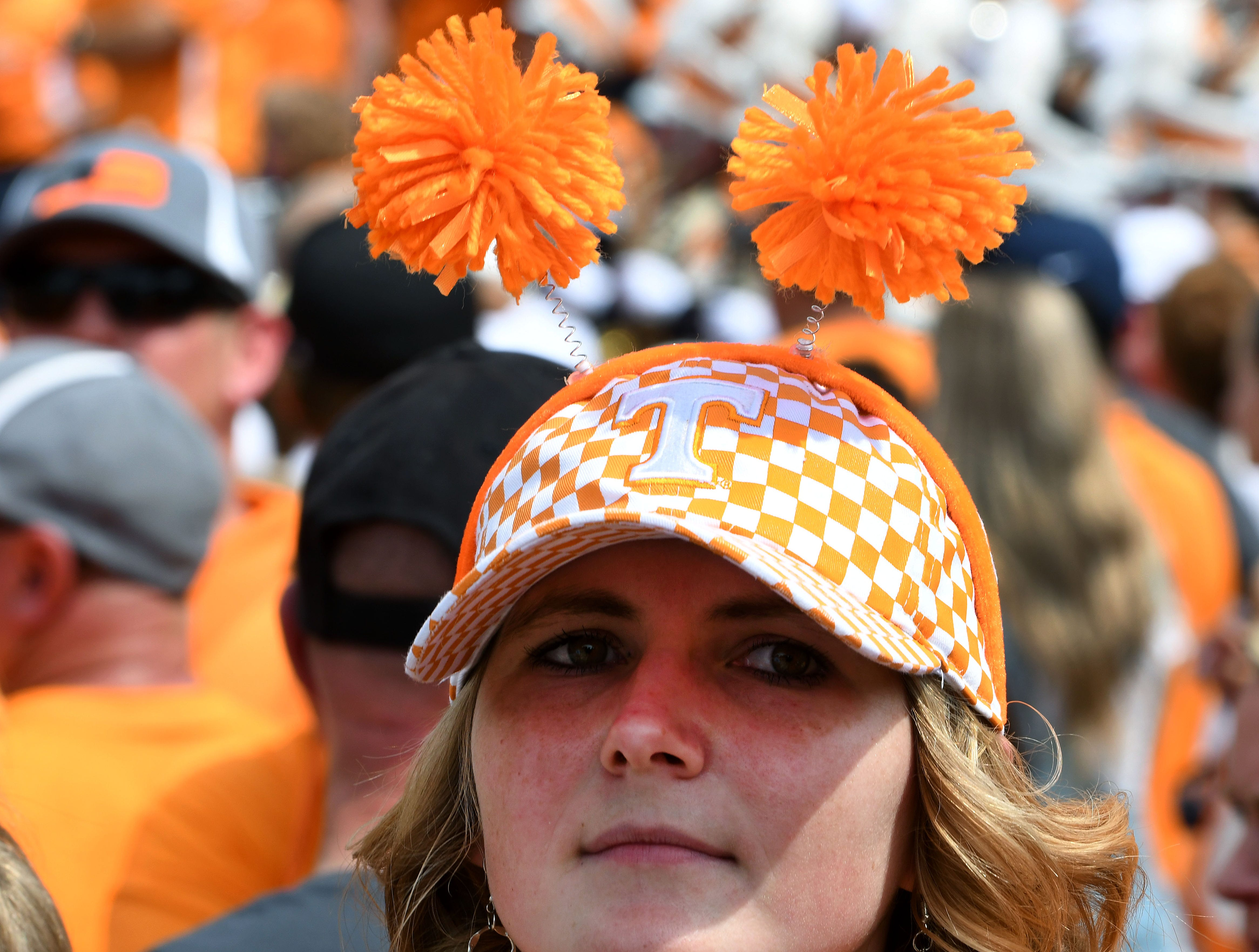Tennessee fan during pre-game activities before the game against East Tennessee State Saturday, September 8, 2018 at Neyland Stadium in Knoxville, Tenn.