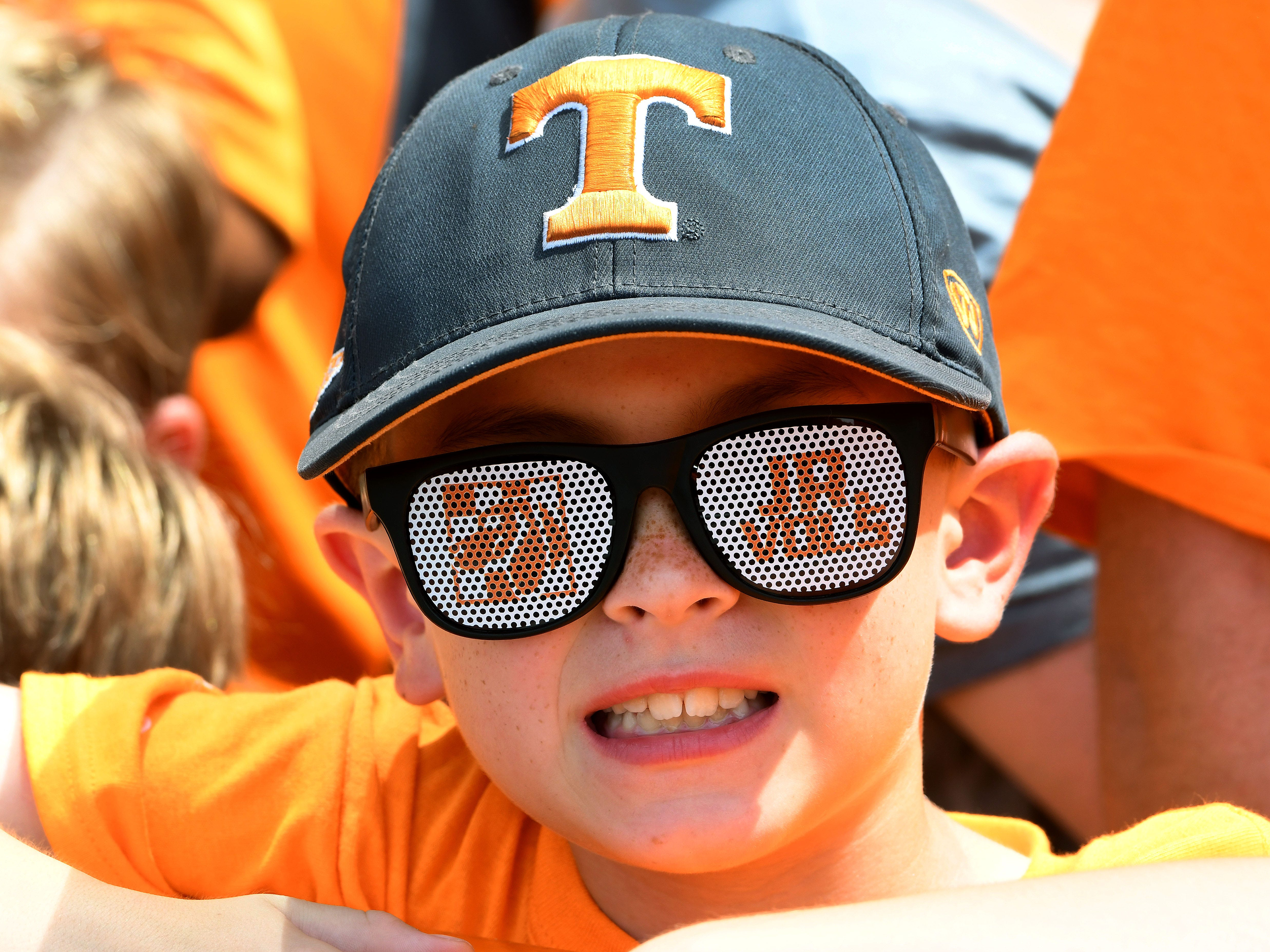 Tennessee fan waiting on the Vol Walk during pre-game activities before the game against East Tennessee State Saturday, September 8, 2018 at Neyland Stadium in Knoxville, Tenn.