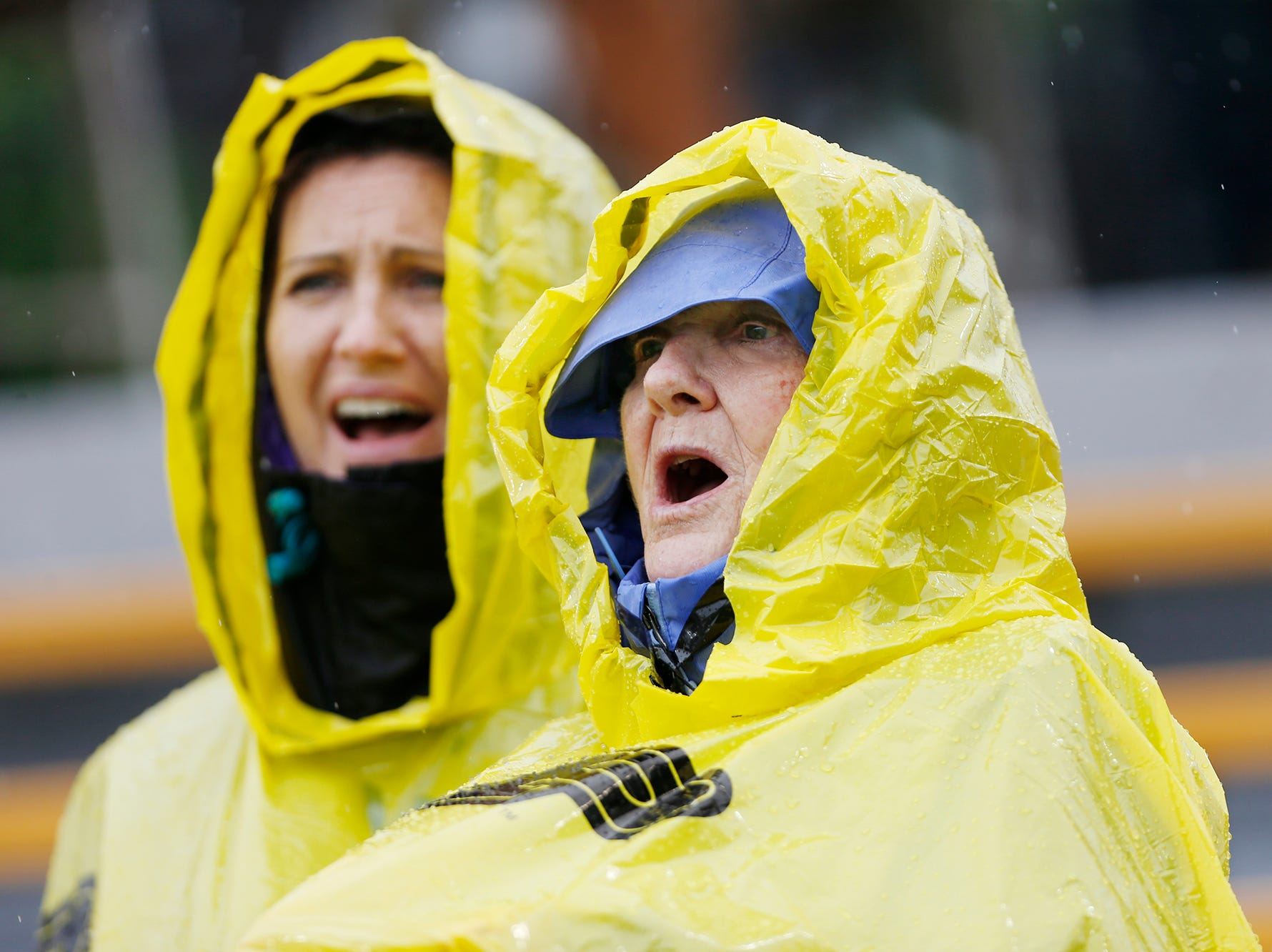 Purdue fans brave the rainy weather to watch the Boilermakers host Eastern Michigan Saturday, September 8, 2018, in West Lafayette. Purdue fell to Eastern Michigan 20-19.