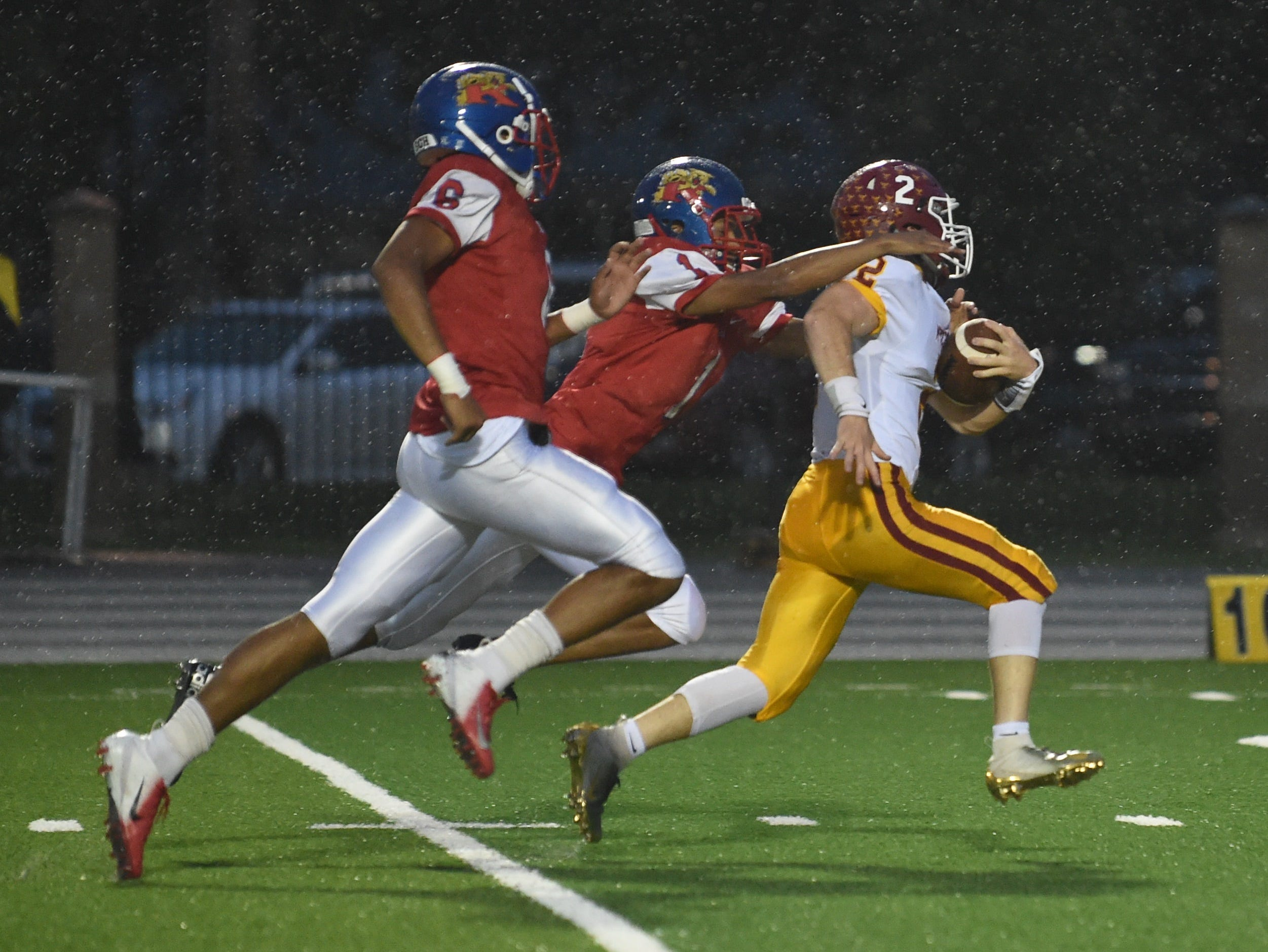 A rainy night of football in Kokomo as the Mavericks skin the Wildkats. Peyton Williams.