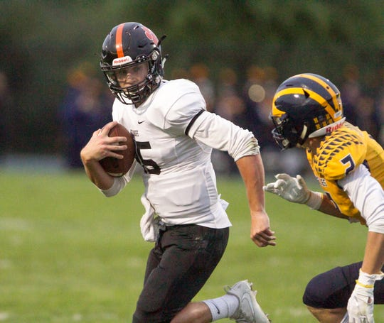 Brighton quarterback Will Jontz has rushed for 693 yards and 10 touchdowns.
