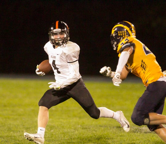 Nicholas Nemecek (4) and his Brighton football teammates will host Hartland on Sept. 13.