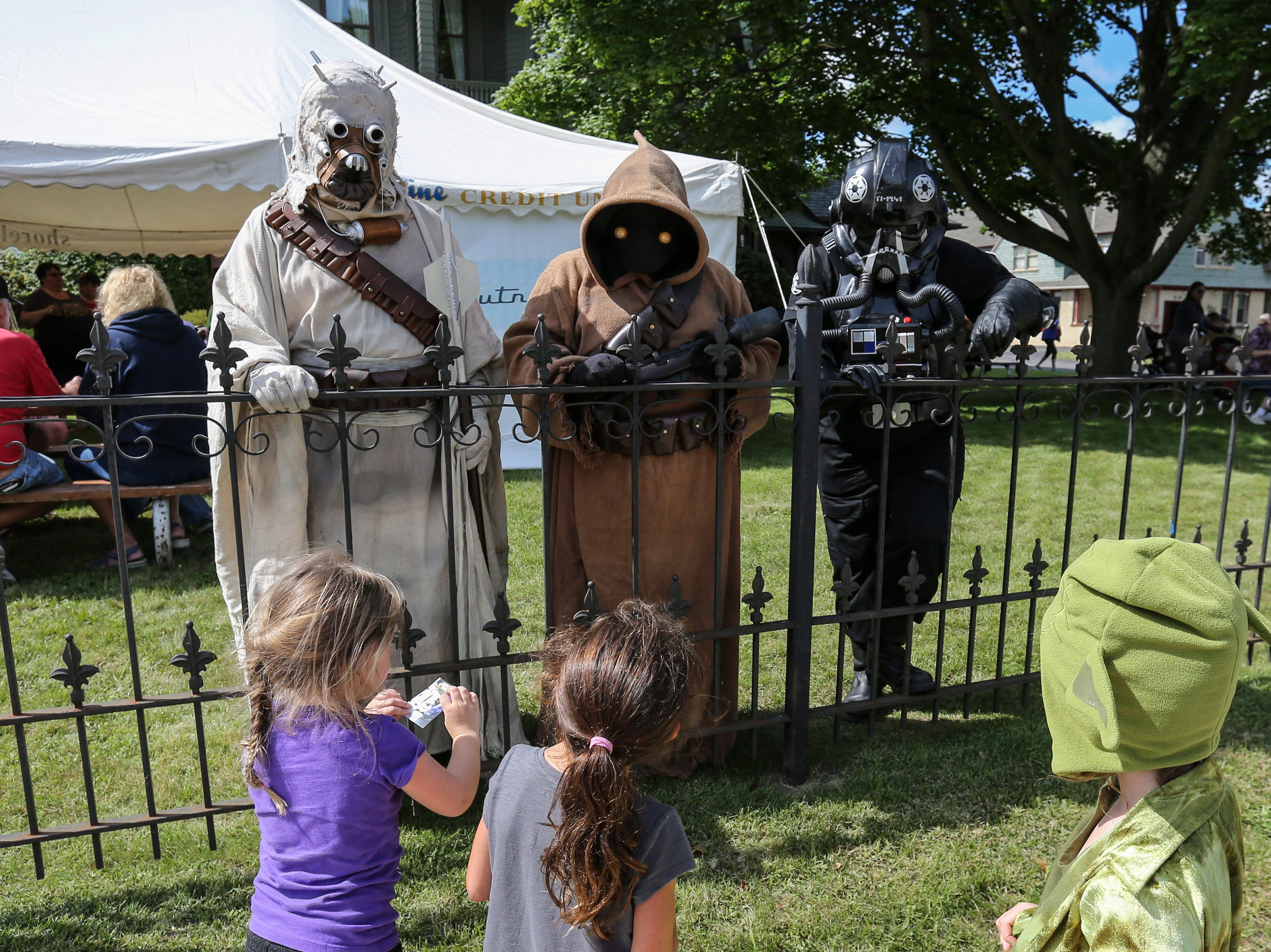 Children approach members of the 501st Legion during Sputnikfest at the Rahr-West Museum Saturday, September 8, 2018, in Manitowoc, Wis. Josh Clark/USA TODAY NETWORK-Wisconsin