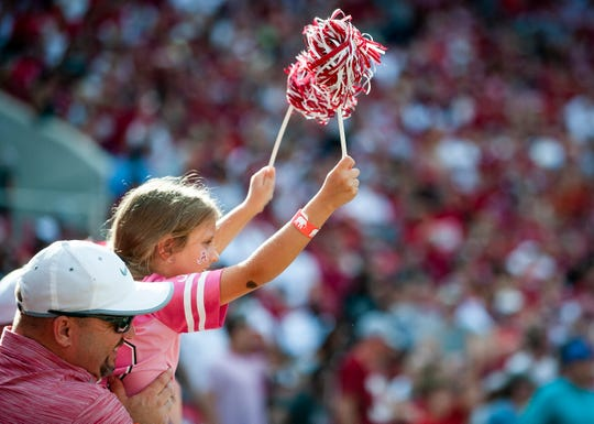 Alabama fans during the Arkansas State  game at Bryant Denny Stadium in Tuscaloosa, Ala., on Saturday September 8, 2018.
