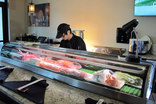 The sushi bar at the new Cirella's Italian Bistro & Sushi Bar on Vanderbilt Beach Road just west of Collier Boulevard in North Naples.